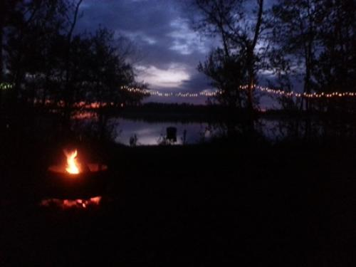 Sunset & Campfire at #18 9:45pm on 6/8/13.  Love.