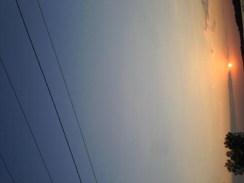 Sunset. Whitewater Lake.